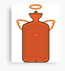 hotel water bottle angel Canvas Print
