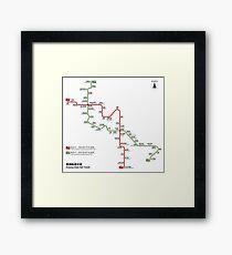 Guiyang Metro Map - China Framed Print