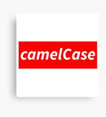 camelCase - Nerdy geeky programming conventions Canvas Print