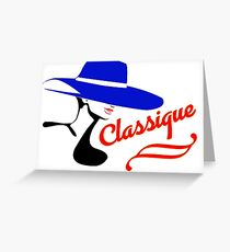 Hat Fashion Silhouette Classique Greeting Card