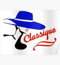 Hat Fashion Silhouette Classique Poster