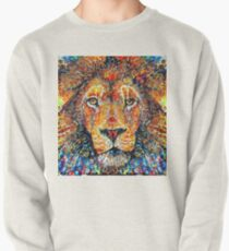 Colorful Lion Painting v4 Pullover