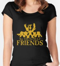 Say Hello Ork - Golden Women's Fitted Scoop T-Shirt