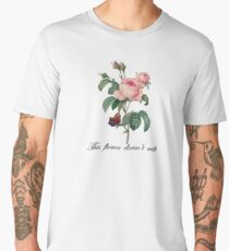 Wild Rose, This Flower Doesn't Wilt Men's Premium T-Shirt