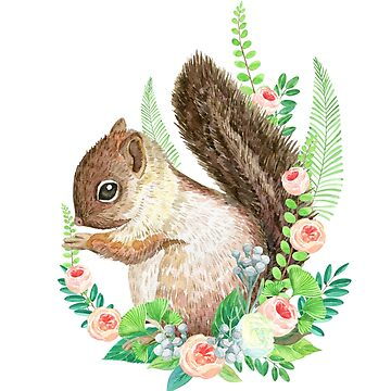 squirrel with flowers by anyuka