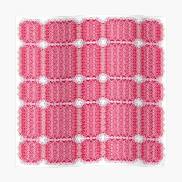 Red, small, pattern, grouped, rectangles, squares Poster