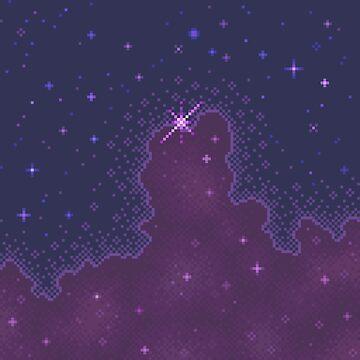 Plum Cloud Galaxy by sp8cebit