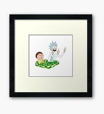 Rick and Morty Potal Framed Print