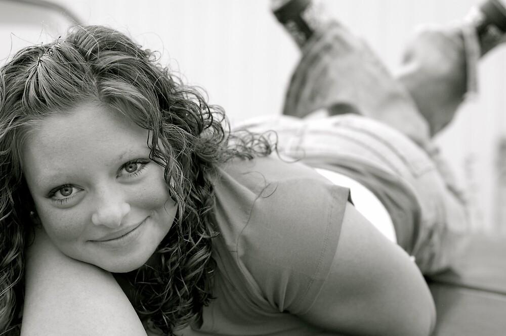 B&W Senior Portrait by Brooke Triplett