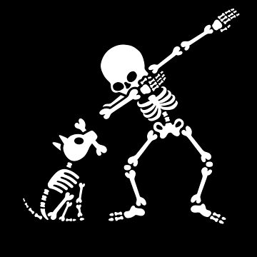 Dab dabbing skeleton Pet Dog Bone by LaundryFactory