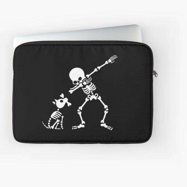 Dab dabbing skeleton Pet Dog Bone Laptop Sleeve