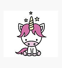 Cute unicorn for kids Photographic Print