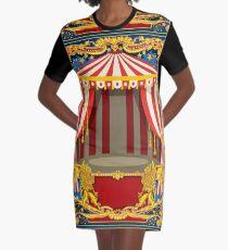 Carnival Circus Vintage Graphic T-Shirt Dress
