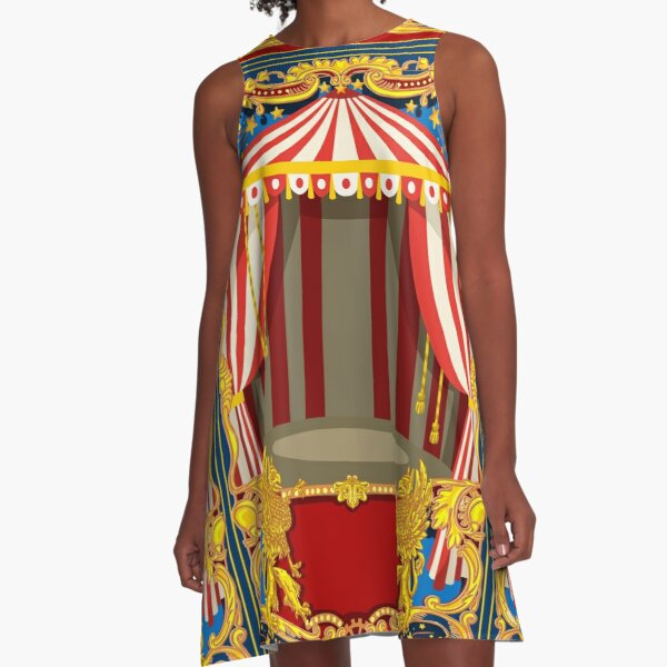 Carnival Circus Vintage A-Line Dress