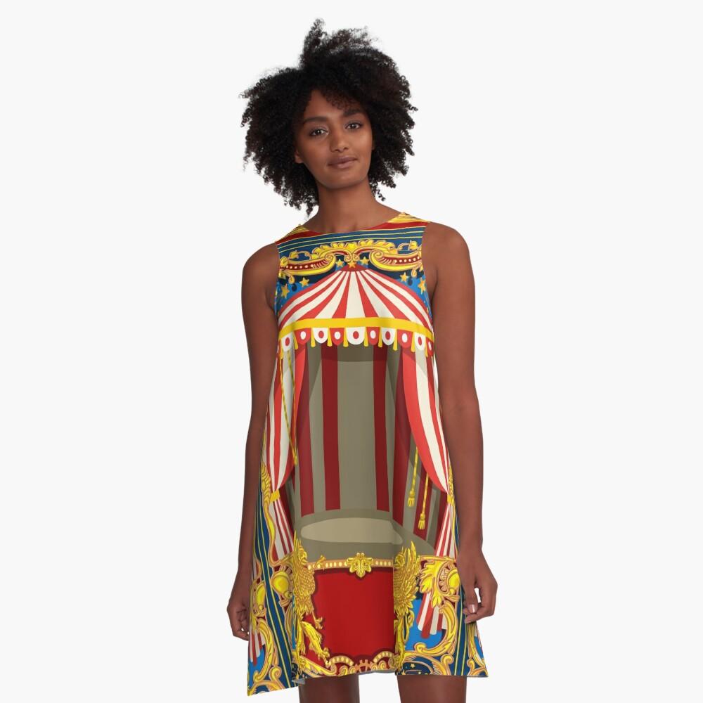 Karneval Zirkus Vintage A-Linien Kleid