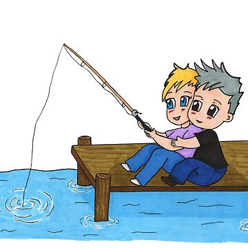 Sam & Jack - Fishing by XFchemist-Art