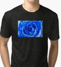 Abstract Macro Blue Rose Tri-blend T-Shirt