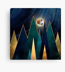 Metallic Peaks Canvas Print