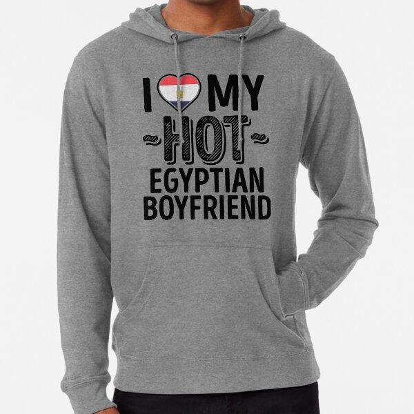 I Love My HOT Egyptian Boyfriend - Cute Egypt Couples Romantic Love T-Shirts & Stickers Lightweight Hoodie