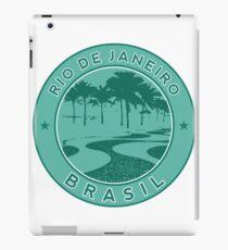 Rio de Janeiro, Brazil, Copacabana beach, green circle iPad Case/Skin