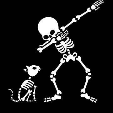 Dab dabbing skeleton Pet Cat Bones by LaundryFactory