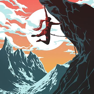 Climbing Girl Vector Art by TamasinLangton