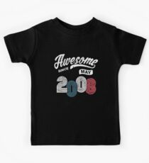 Awesome Since May 2008 Shirt Vintage 10th Birthday Kids T-Shirt