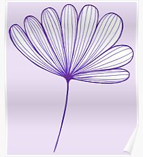 Springtime Floral : Purple and Lilac Poster
