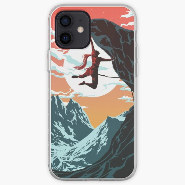 Climbing Girl Vector Art iPhone Soft Case