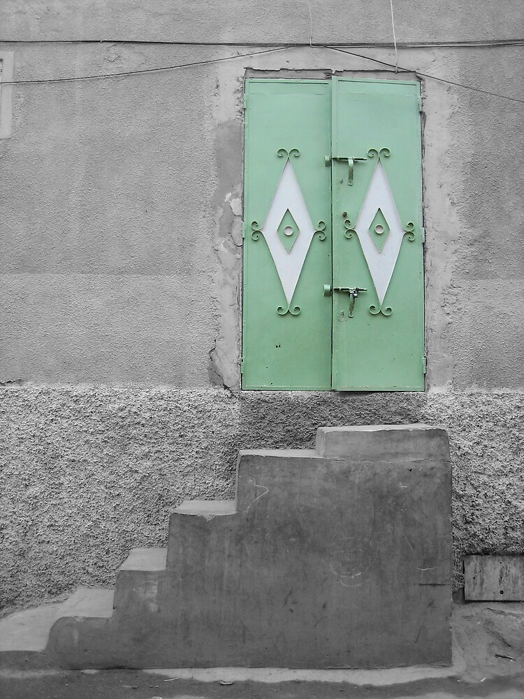 Green Door With Steps, Marrakech                     by jojobob