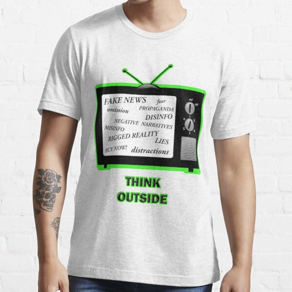 Think Outside Turn off the TV   Essential T-Shirt