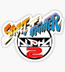 Street Fighter Alpha 2 Logo Sticker