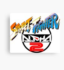 Street Fighter Alpha 2 Logo Canvas Print