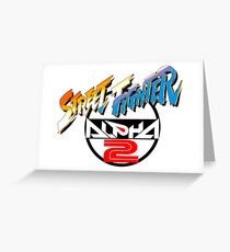 Street Fighter Alpha 2 Logo Greeting Card