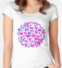 Watercolor romantic design Women's Fitted Scoop T-Shirt