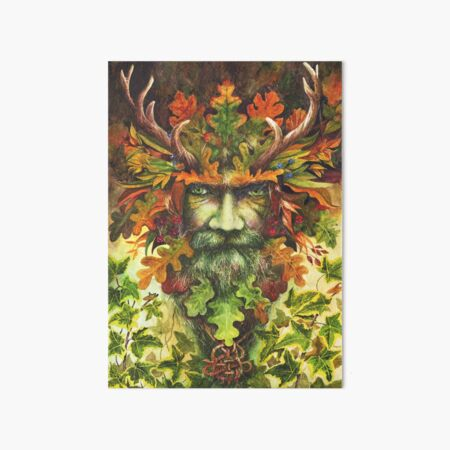 The Green Man Art Board Print
