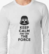 Keep calm and use the force shirt Long Sleeve T-Shirt