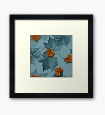 Blue Leaves Framed Print