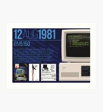 Lámina artística IBM 5150 - Historia de la informática