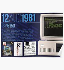 IBM 5150 - Computing History Poster