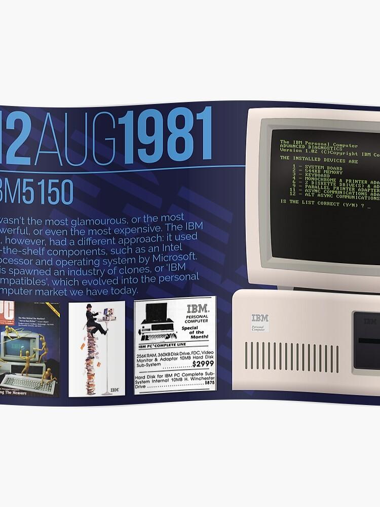 IBM 5150 - Computing History | Poster