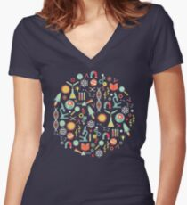 Science Studies Women's Fitted V-Neck T-Shirt