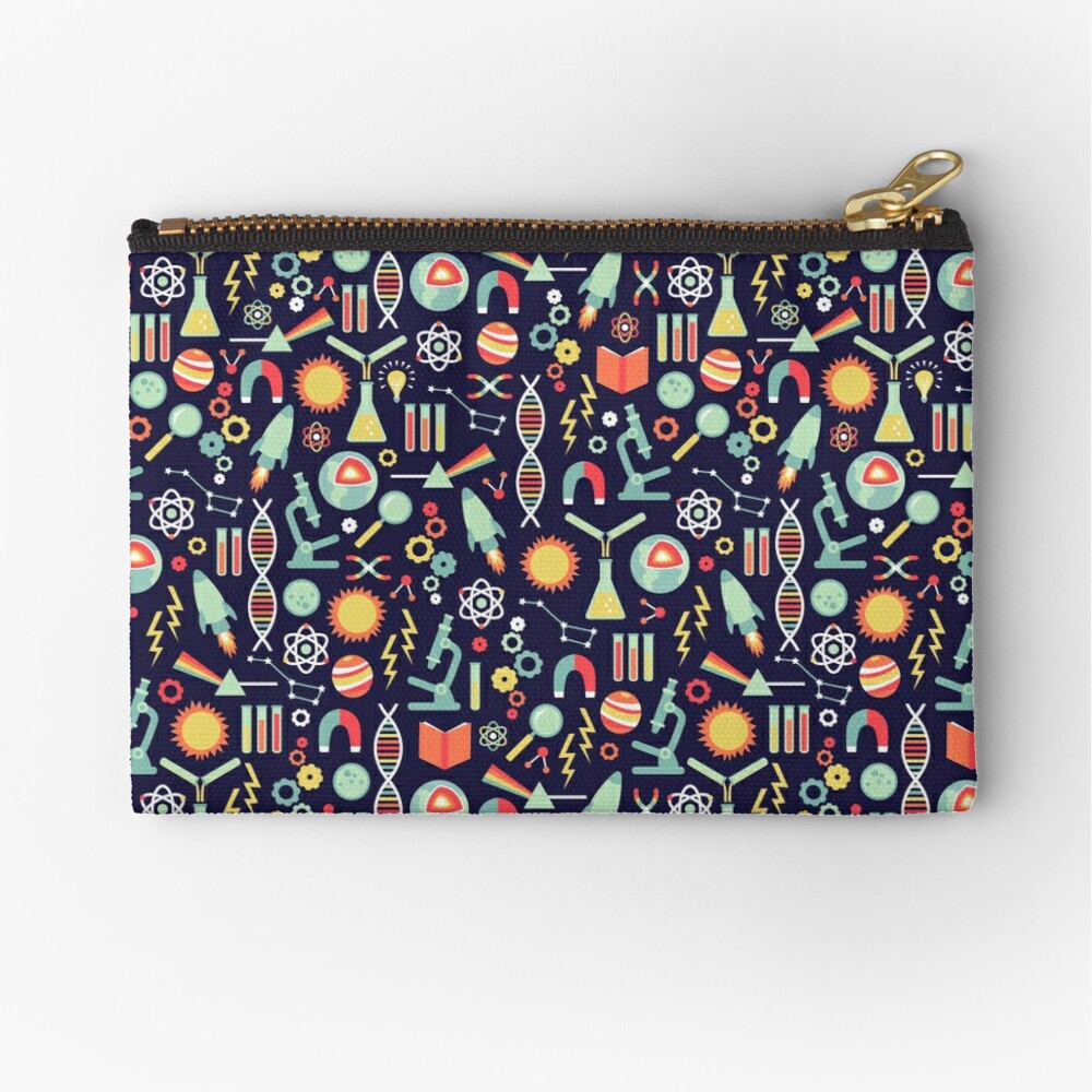 Science Studies Zipper Pouch