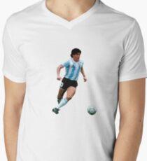 Diego Maradona (Argentina) Men's V-Neck T-Shirt