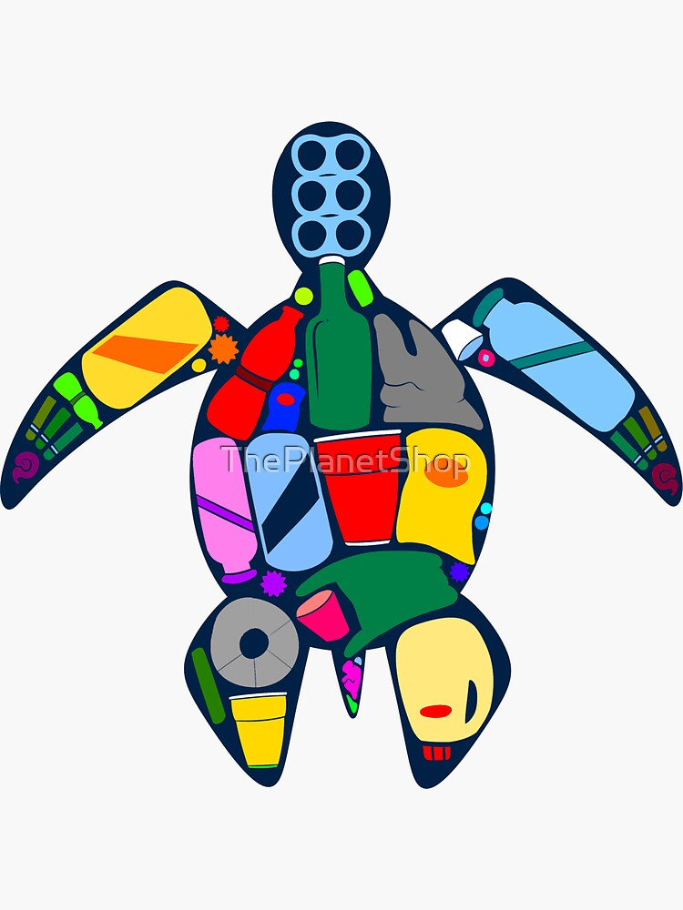 Turtle- ocean plastics by ThePlanetShop