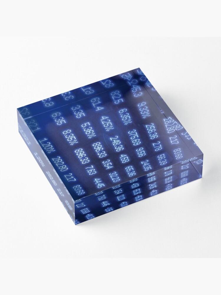 Alternate view of Numbers Acrylic Block