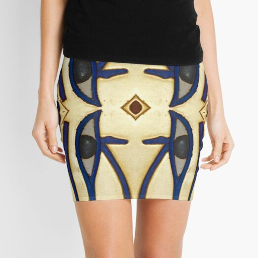 pattern, design, tracery, weave Mini Skirt