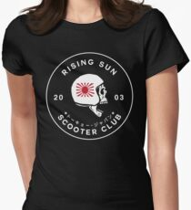 Rising Sun Scooter Club Tokyo Womens Fitted T-Shirt