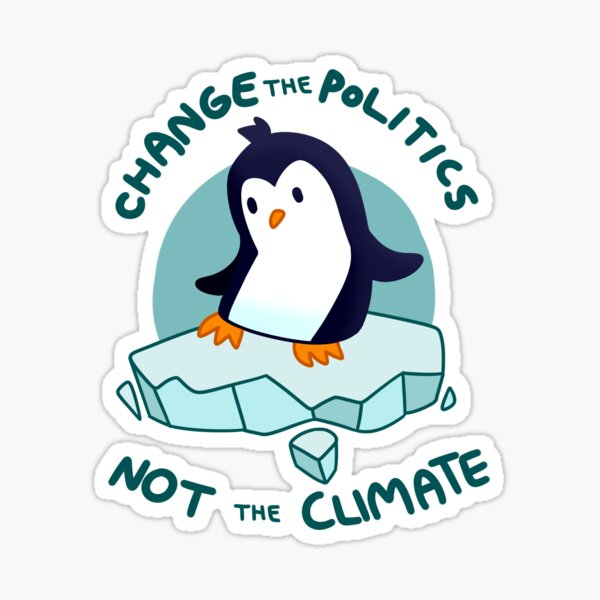 Climate Penguin Sticker