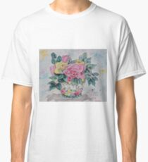 Tranquil Rose Watercolor Classic T-Shirt